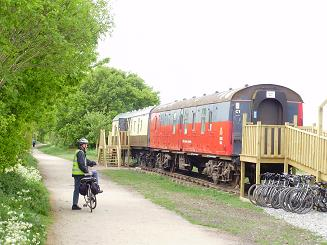 stratford bike hire railway carriage