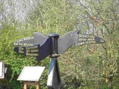 Stratford Greenway Signpost